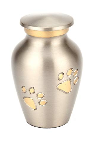 DCCER Pet Memorial, Cat/Dog, Animal Cremation Monument and Tombstone Collection, Pet Cremation Coffin,S (Color : Pewter) ()