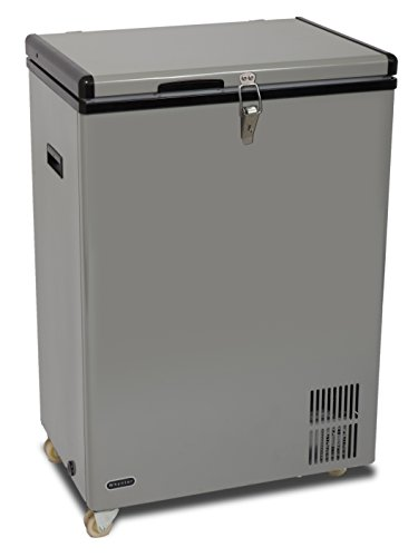 Whynter FM-951GW 95 quart Portable Wheeled Freezer with Door Alert and 12V Option, Gray