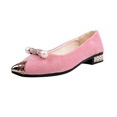 Pisos De Mujeres Zapatos Formales Comodidad Pu Caída Casual Walking Zapatos Formales Comodidad Rhinestone Baja Heellight Rubor Rosa Verde Azul US8 / EU39 / UK6 / CN39