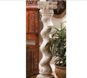 Twisted Stone Finish Home Garden Column (Xoticbrands)