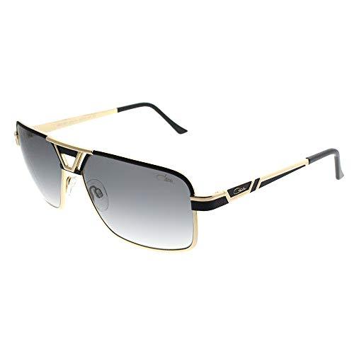 Cazal 9071 Sunglasses 001SG Black Gold / Grey Gradient Lens 61 ()