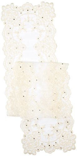 Creative Ideas Table Runner with Faux Rhinestones 14
