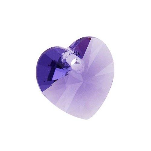 Swarovski Crystal 10mm Hearts Charms - SWAROVSKI ELEMENTS Crystal #6228 10mm Heart Pendant