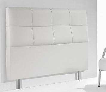 cabezal para cama de matrimonio tapizado en blanco cabecero con patas moderno x cm