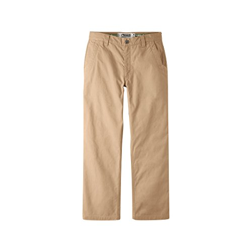 Mountain Khakis Mens Pants: Original Mountain Pant Relaxed Fit - Mid Rise 2 Ply Organic Cotton Canvas, Yellowstone, 40W ()