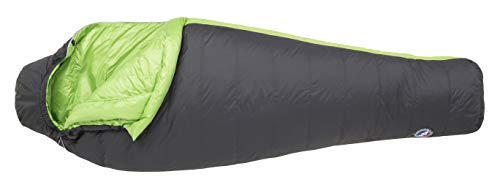 Big Agnes Boot Jack 25 (600 DownTek) Mummy Sleeping Bag, Regular, Left Zip, Gray/Green