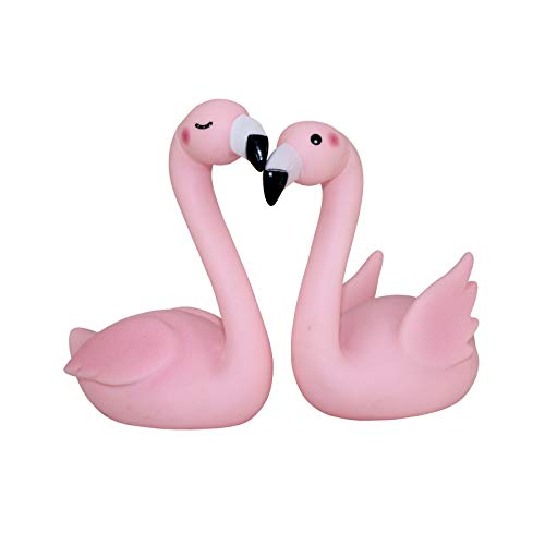 (GonPi |Bath Toys | 1 lot 2 Pieces Cute Pink Flamingo Rattle Bath Toys Ornament Baby Water Toys Phoeniconaias a bit of Like as Swan Goose Decoration)