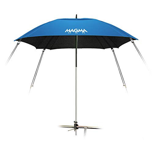 Magma Products, B10-405-3 Rail Mounted Boat Umbrella, Pacific Blue, 1-1/2