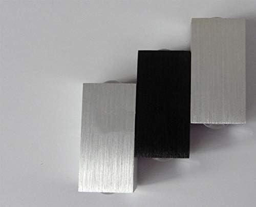 WORLED Aplique LED 6W de Pared Moderno Aluminio Color Negro Plata Iluminación de Interior para Escalera Pasillo Salon Dormitorio Cabecera Color Luz Blanco Cálido[Clase de eficiencia energética A+]: Amazon.es: Hogar