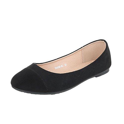 Ital-Design Women's Loafer Flats Flat Slippers at Black B989h-bl KwDUnK8sqN