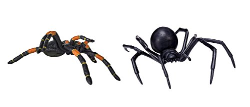 Safari Ltd Hidden Kingdom Black Widow Spider and Safari Ltd Hidden Kingdom Orange-Knee Tarantula bundled by Maven Gifts