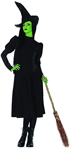 Leg Avenue Women's Wicked 2 Piece Elphaba Witch Costume, Black, Medium
