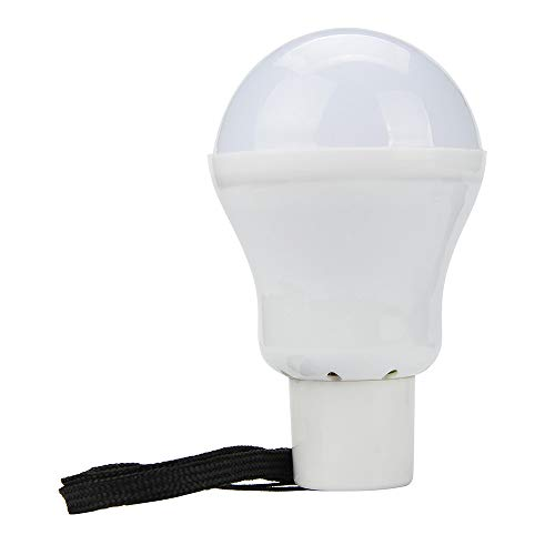 HuiKaiPortable Solar Powered 12 LED Rechargeable Bulb Light Outdoor Camping Yard Lamp ()