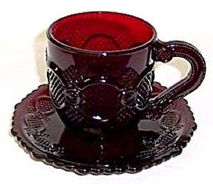 Avon Cape Cod Ruby Red Cup Saucer ()