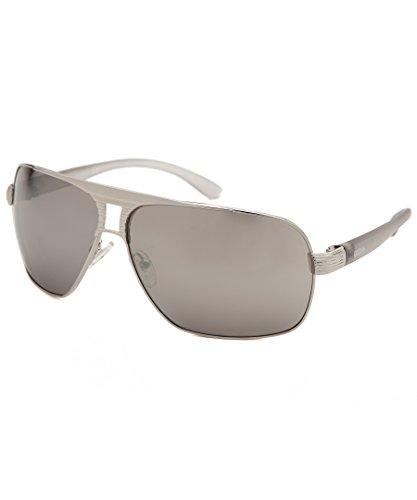Guess Sunglasses Silver Temples Mirror GU651206C