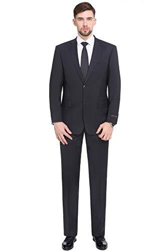 - P&L Men's Classic Fit 2 Piece Suit Blazer Jacket Tux Vest & Flat Pants Set
