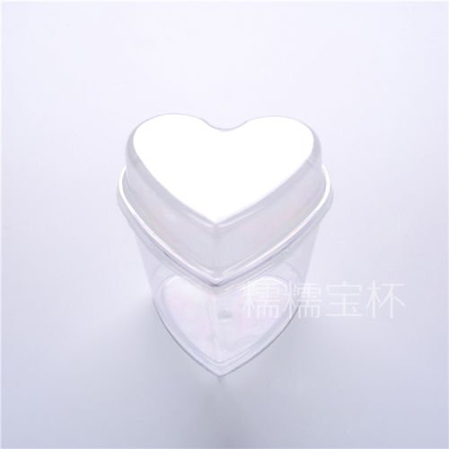 BB 50 pcs145ml plastic disposable heart cup glasses dessert without cover wedding party