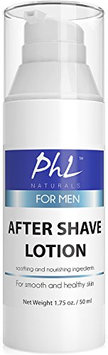 PhL Naturals Unscented Natural After Shave Lotion for Men - Soothes Irritation...