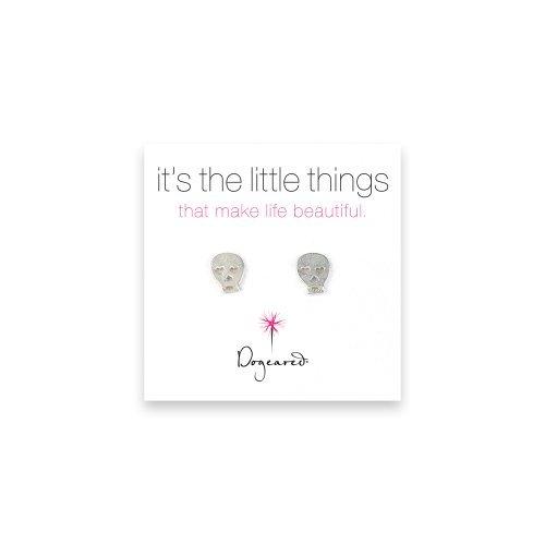 Dogeared It's the Little Things Skull Earrings - Sterling Silver by Dogeared