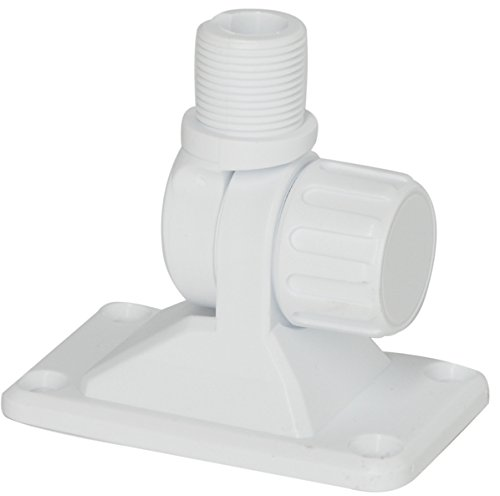 Mount for Marine boat antennas Scout PA3C. White Two way ratchet mount with low profile knob made of reinforced UV protected nylon. Will fit all marine VHF and AM-FM antennas. Made in Italy