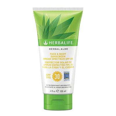 Herbalife Herbal Aloe Face & Body Sunscreen Broad Spectrum SPF 30 - Sunscreen Herbal