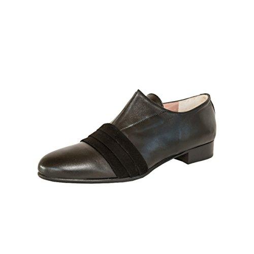 Negro De Cuero Quoque Cordones M1011 Zapatos Mujer qf7HBz