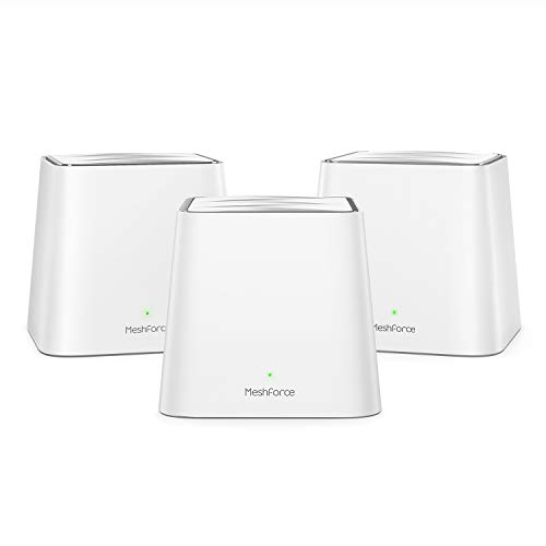 Meshforce Whole Home Mesh WiFi System M3s Suite (Set of 3) - Gigabit Dual Band Wireless Mesh Router Replacement - High Performance WiFi Coverage 6+ Bedrooms