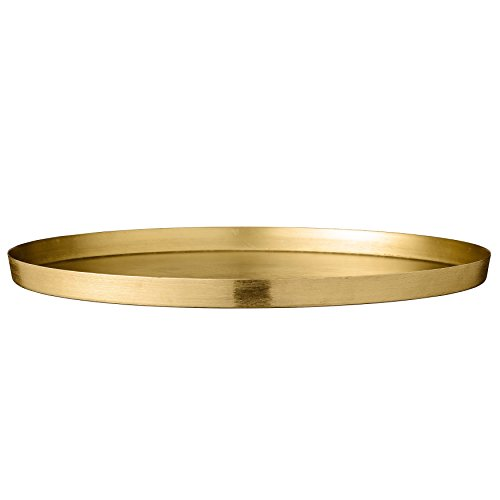 Bloomingville Aluminum Tray with Brushed Gold Finish, Multicolor (Brushed Gold Finish)