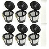 Single Reusable K-cup Coffee Filter for Keurig K60 - 6 Pack