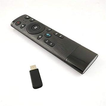Q5 Air Mouse 2.4G Entrada de Voz Control Remoto Wireless Air Remote Mouse con Receptor USB HTPC PC Controller para Smart TV Cloverclover: Amazon.es: Electrónica