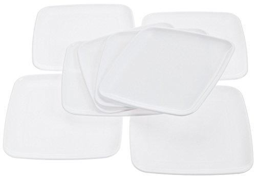 Mozaik Square White Plates, 9 in (8 count)