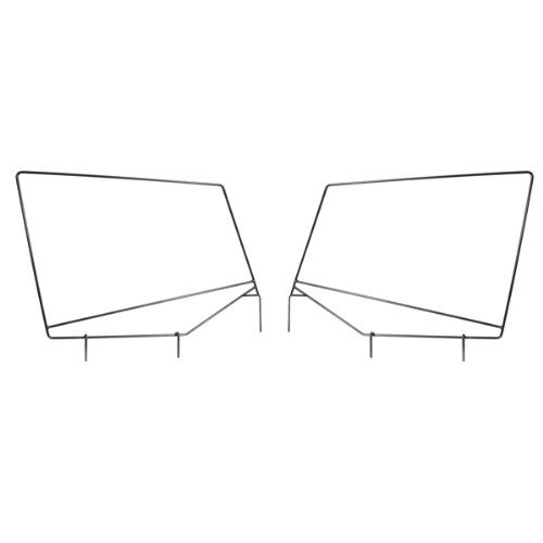 Soft Upper Doors (Rugged Ridge 13701.80 Upper Door Frame for 87-95 Wrangler  - Pair)
