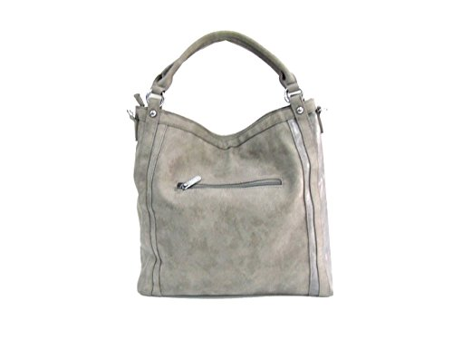 Borsa donna Coveri Collection mod.sacca a spalla 172229-2 cemento
