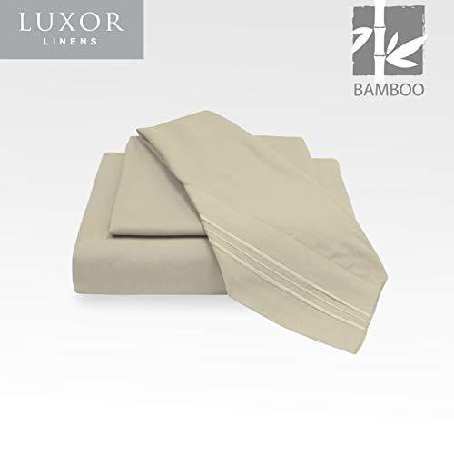 Luxor Linens Microfiber Queen Sheets - 4pc Set (2 Pillowcases, 1 Fitted Sheet, 1 Flat Sheet) - 18 inch Deep Pockets - Premium Hotel Quality, Soft, Luxurious & Hypoallergenic (Queen, - Notte Bella Linen Bedding