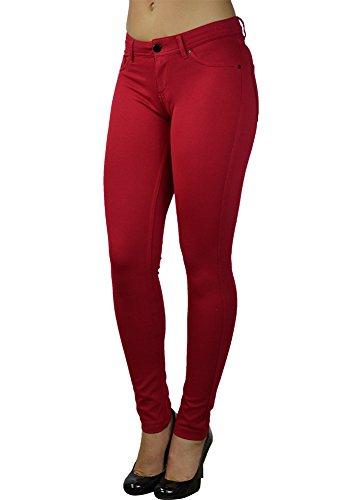 Alfa Global Skinny Dress Pants (S, Red)