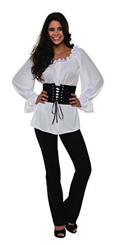 Pizazz! Unisex-Adult's White Renaissance Long Sleeve, Large