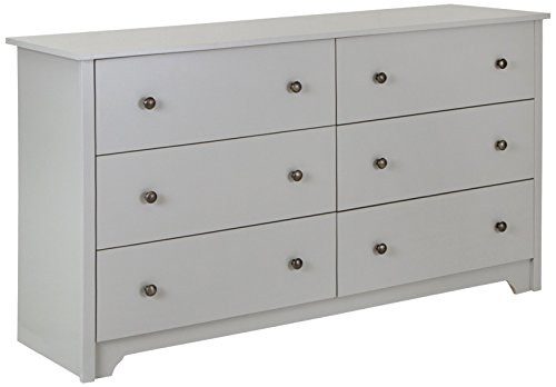 - South Shore Vito 6-Drawer Double Dresser, Soft Gray