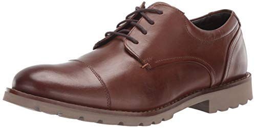 Rockport Men's Channer Oxford Brown Leather 11 W US