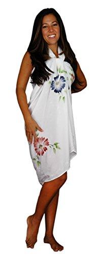 Maillot Robe 1 Sarong Motif World Blanc Femme Bain Pour À De dIdrwn1A4q