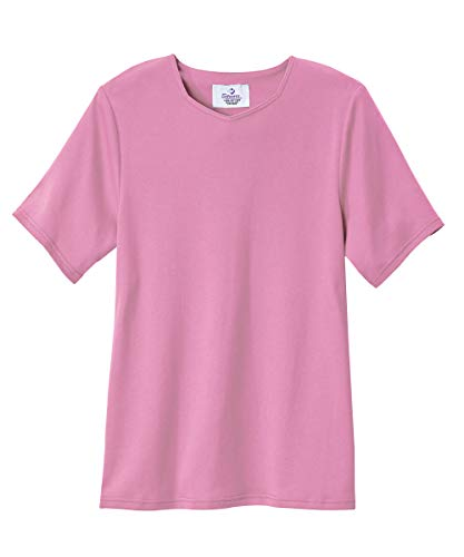 Silvert's Adaptive T Shirt Solid Color for Women - Home Care Apparel - - Bordeaux SMA ()