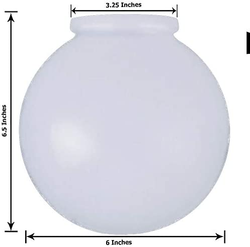 KOR K21815 6 Inch White Glass product image