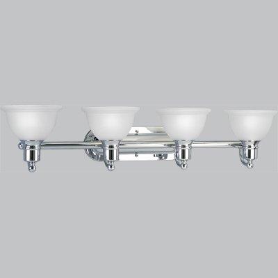 - Progress Lighting P3164-15 4-Light Bath Bracket, Polished Chrome