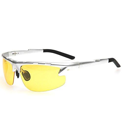 Visión para gafas gafas visión sesgada Nocturna gafas TIANLIANG04 hombres de de polarizadas Guía negro nocturna anti deslumbramiento Argento Gafas espejos 6PwqEp