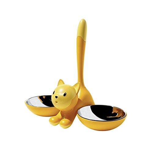 A di Alessi Tigrito Cat Bowl, Yellow