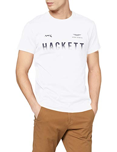 Hackett London Men's AMR Graphic T-Shirt, White