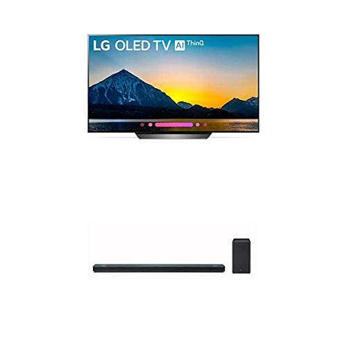 LG Electronics OLED65B8PUA 65-Inch 4K Ultra HD Smart OLED TV (2018 Model) Bundle with LG SK10Y 5.1.2 Channel Hi-Res Audio Sound Bar with Dolby Atmos (2018)