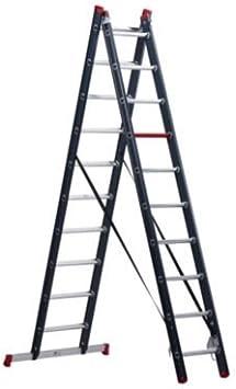 Multiusos escalera, revestimiento de aluminio 2 piezas, Azul, 2 x 10 peldaños – anlegel eitern espalderas Escaleras multifunción Escalera multiusos Escaleras combinado Escaleras de aluminio espalderas Escaleras anlegel eitern espalderas Escaleras ...