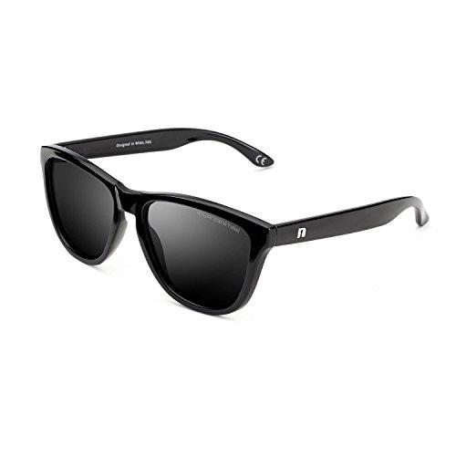 Brillo Mujer Model Hombre amp; Model Negro de Gafas Polarizadas Negro CLANDESTINE Sol Tqg0v