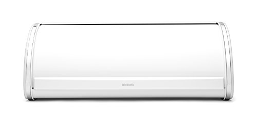 - Brabantia 173325 Roll Top Bread Box, Large, White