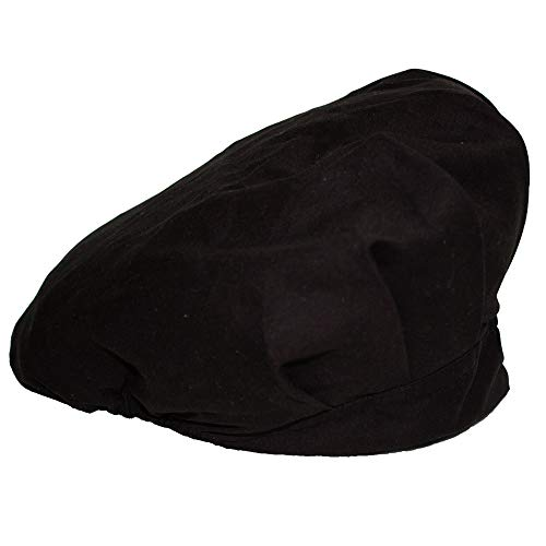 JoyRing Adjustable Surgical Scrub Cap Medical Doctor Bouffant Hats with Sweatband and Free Cotton Mask Black